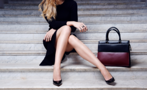 A sexy woman with classic bag