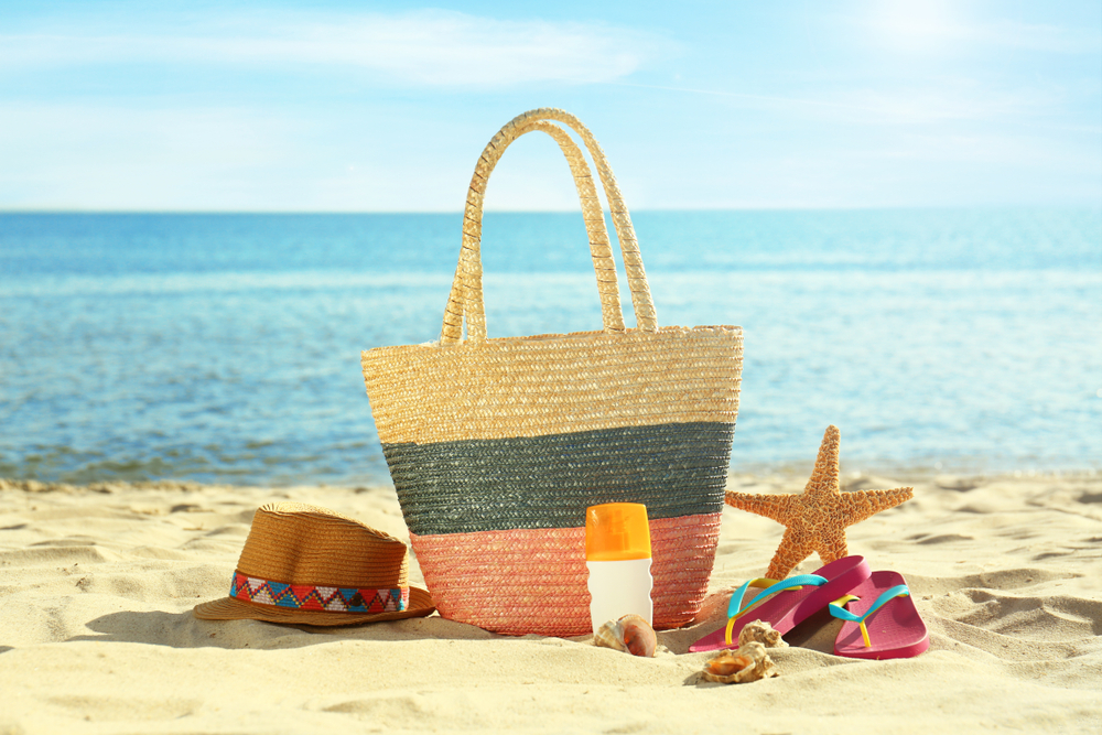 Weekender Bag on beach